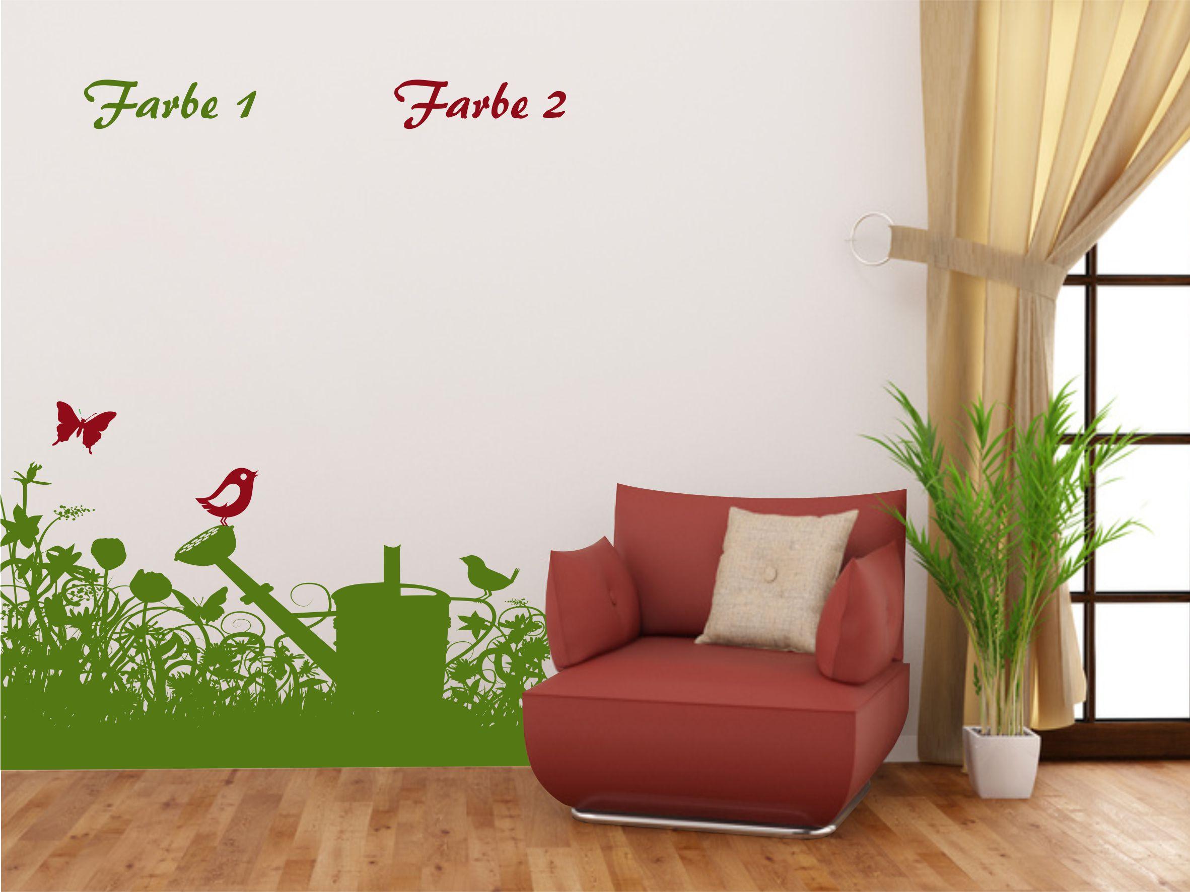 wandtattoo wiese kinderzimmer zweifarbig. Black Bedroom Furniture Sets. Home Design Ideas