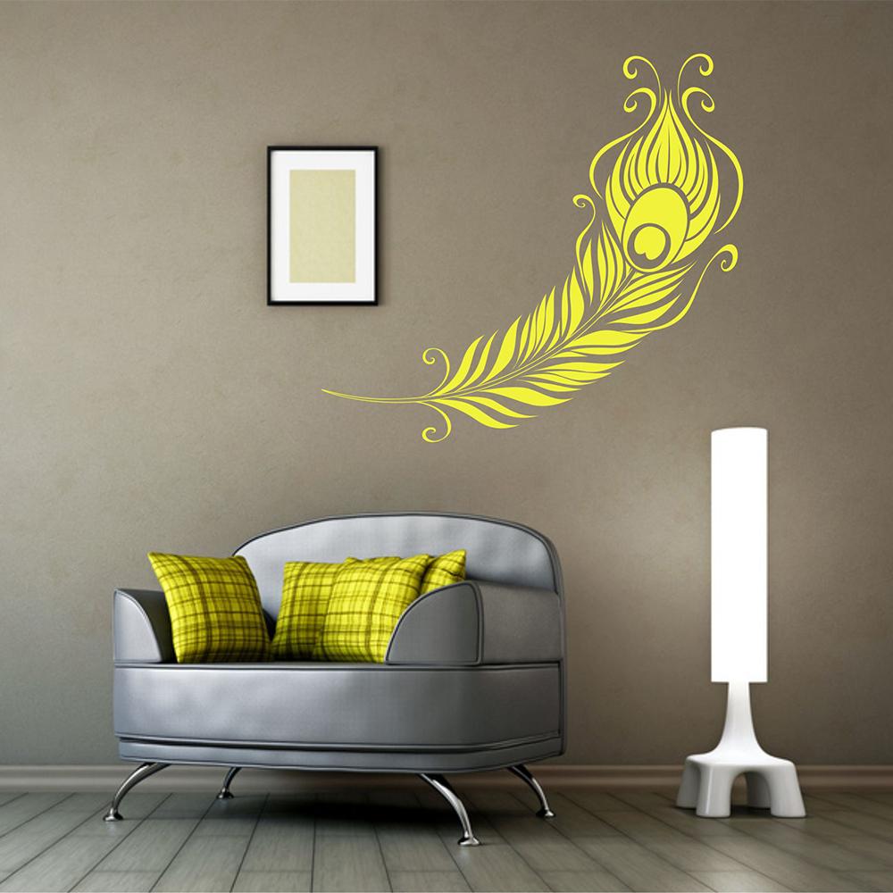wandtattoo wandaufkleber pfauenfeder. Black Bedroom Furniture Sets. Home Design Ideas