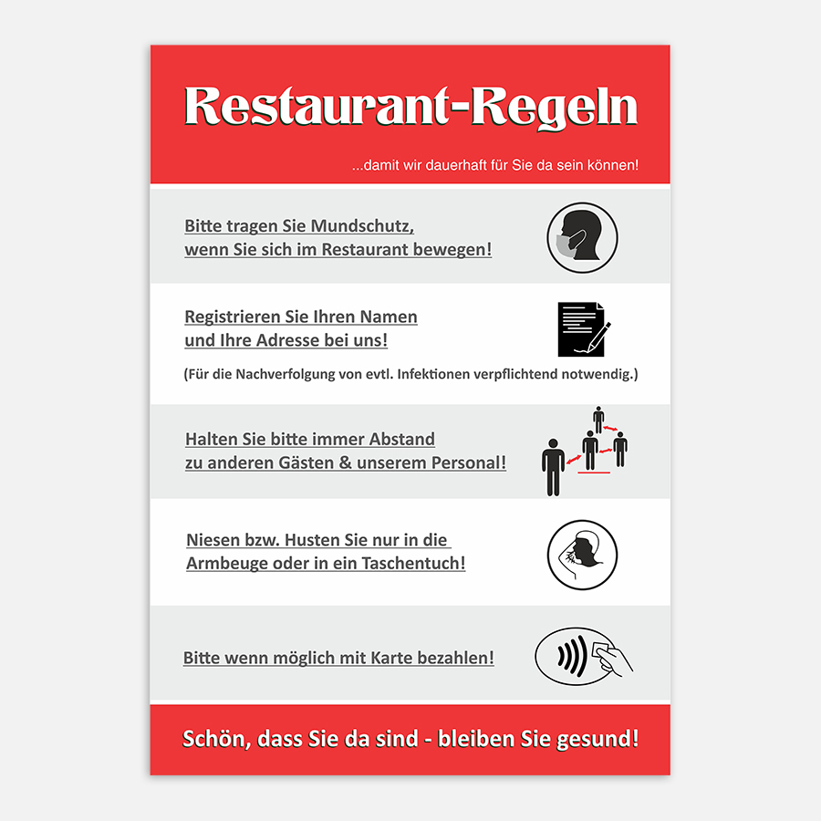 Restaurant Regeln Corona