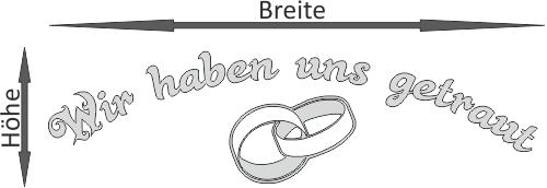 Autoaufkleber hochzeit just married frisch getraut for Durchsichtige klebefolie