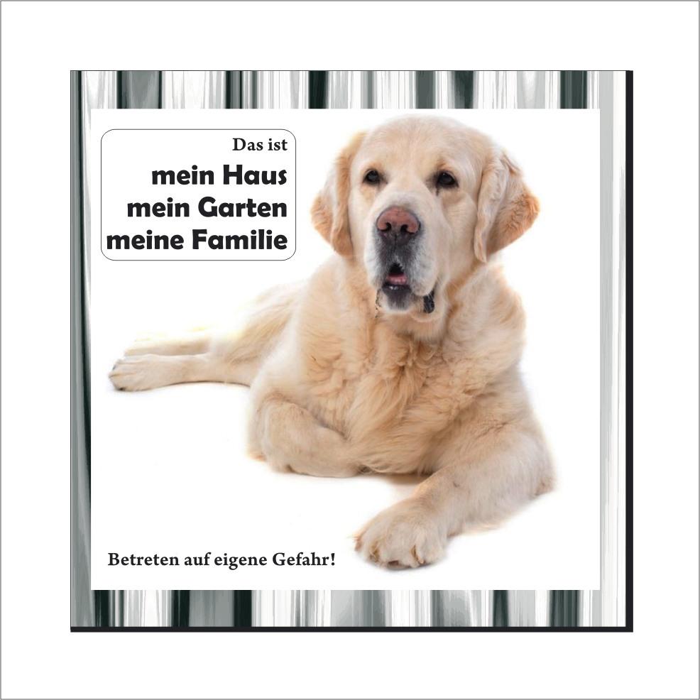 wachhund schild golden retriever schild. Black Bedroom Furniture Sets. Home Design Ideas