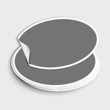 Ovale Aufkleber - Selbstklebeetiketten Oval