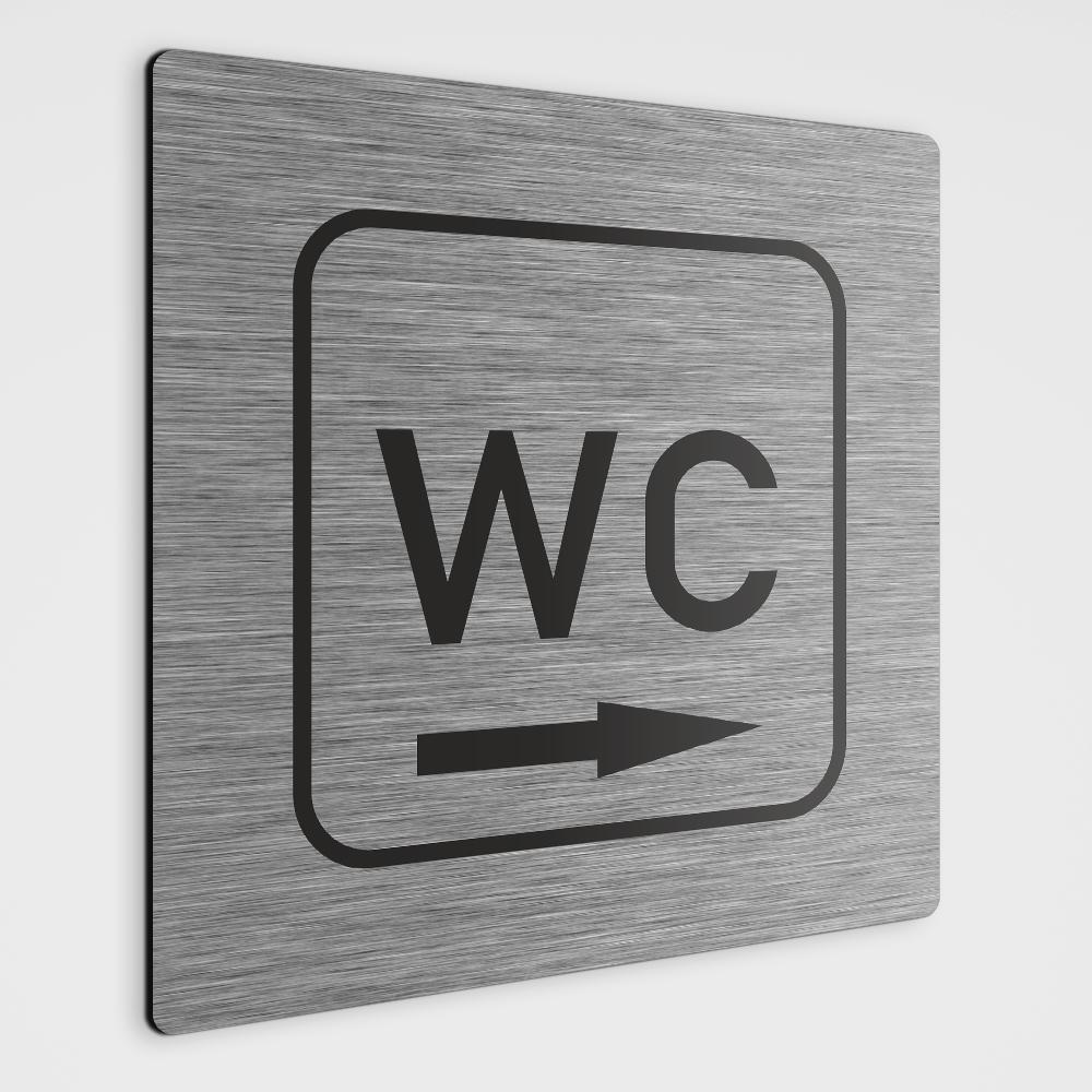WC Hinweisschild,WC Schild mit Richtungspfeil rechts,