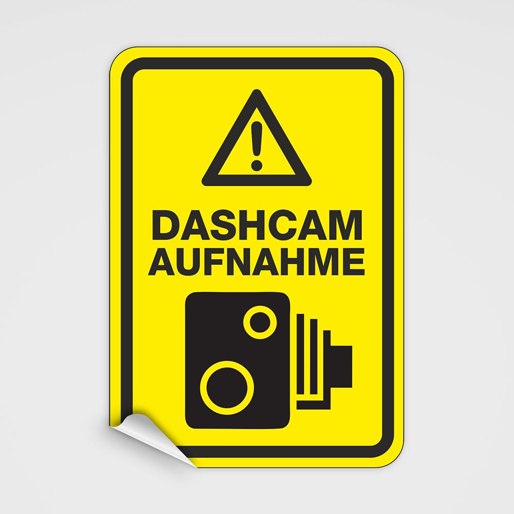 Dashcam Aufkleber Hinweisaufkleber Zur Verwendung
