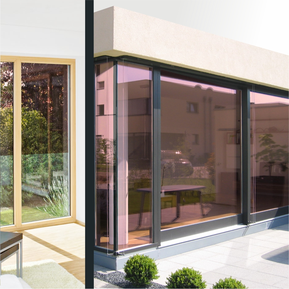 spiegelfolie kupfer dunkel 80 hc. Black Bedroom Furniture Sets. Home Design Ideas