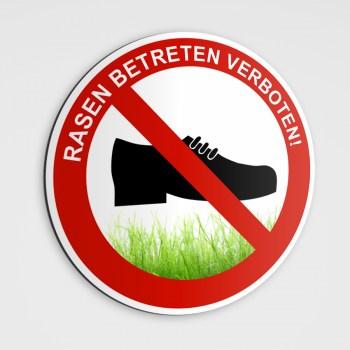 Verbotszeichen Rasen betreten verboten!