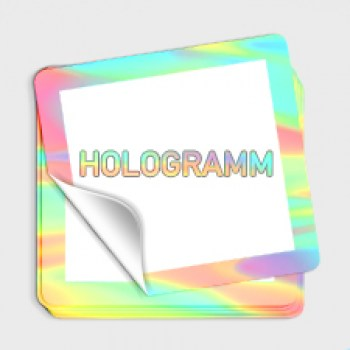 Aufkleber Hologrammfolie