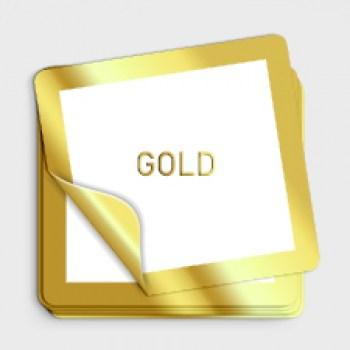 goldene Aufkleber