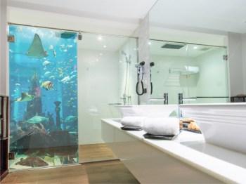 Duschaufkleber, Unterwasserbild in Sandstrahloptik
