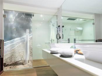 Duschglaswand mit Motiv bestellen!