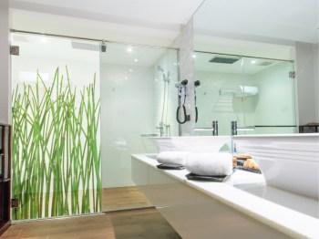 Dekor Duschwand, Bambus