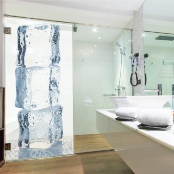 Sichtschutz für Ihre Dusche, ice