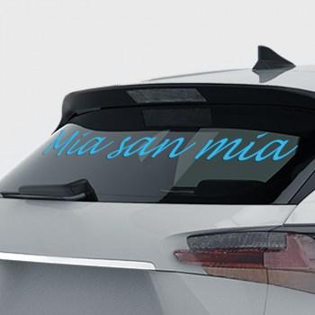 Heckscheibensticker Autoaufkleber -  Mia san Mia Schriftzug