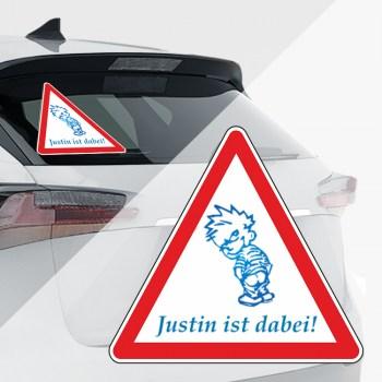 Baby an Bord Aufkleber - Justin