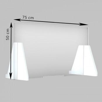 Spucken Schutz Acrylglasplatte, Thekenaufsteller Infektionsschutz mit Durchreiche