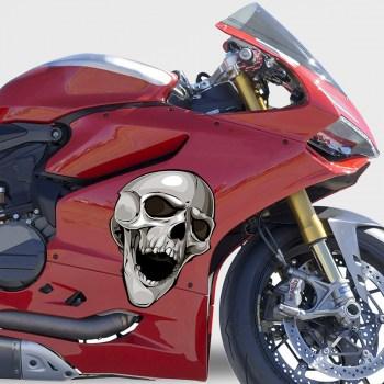 Motorradaufkleber Totenkopf Skull