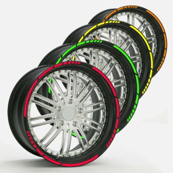 Felgenaufkleber, Wheel Stripes NEON Farben
