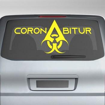 Corona Abitur Aufkleber Coronabi