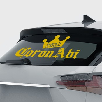 Coronabi Aufkleber Abitur 2020 - Corona Abi