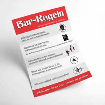 Plakat Bar Corona Regeln