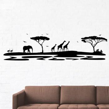 Wandtattoo Afrika Silhouette