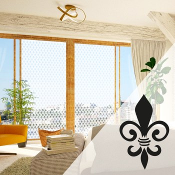 Ornament Fensterfolie selbstklebend