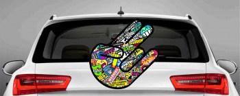 shockerhand Aufkleber bunt Shockerhandaufkleber Autoaufkleber