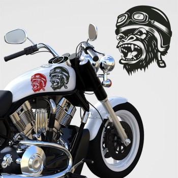 Motorradaufkleber Carsticker Monkey