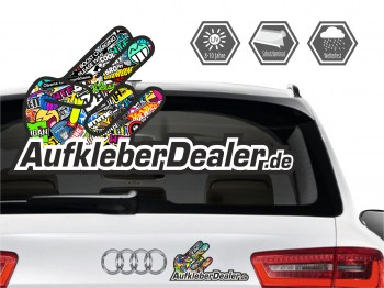Promotion Aufkleber Shockerhand -  kostenlose  Autoaufkleber