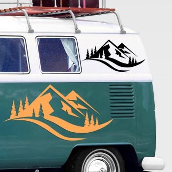 Aufkleber camping Berge