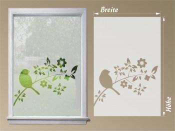 Sichtschutzfolie Fensterfolie Vogel auf Ast