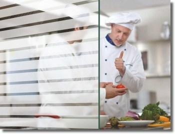 Fenster Dekorfolie WHITE LINES 35 mm