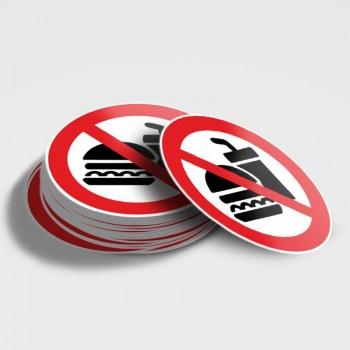 Verboten! Essen & Trinken verboten! Schild - kein Essen & Trinken
