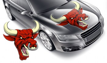 Autoaufkleber wütender Stier