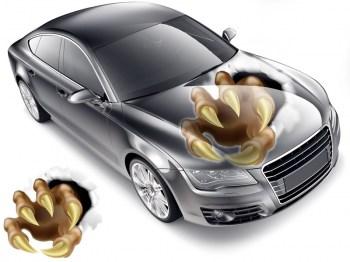 Autoaufkleber Monsterkralle