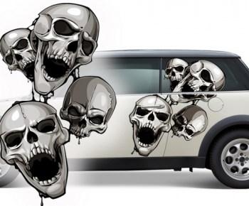Totenschädel Aufkleber fürs Auto