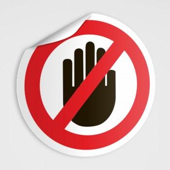 Nicht anfassen Aufkleber !!!