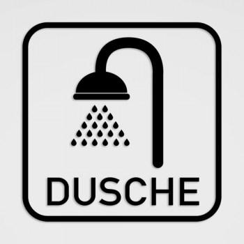 DUSCHE Hinweisschild, Dusche Piktogramm im Plot