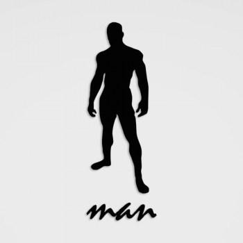 Piktogramm-Aufkleber Man Umkleide o. WC im Folienschnitt