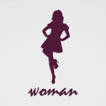 Piktogramm-Aufkleber Woman Umkleide o. WC im Folienschnitt