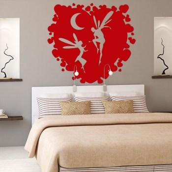 Wanddekor Elfen im Herz