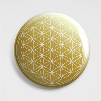 3D Aufkleber - Blume des Lebens Gold-Weiß, 3 Stück