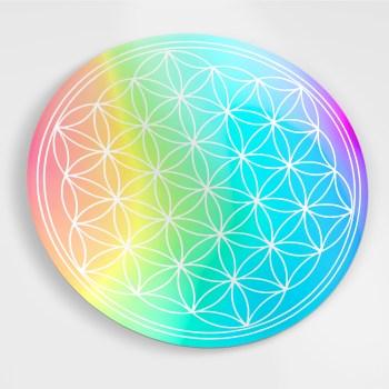 Hologramm Aufkleber - Blume des Lebens, 6 Stück
