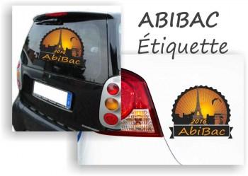 Abituraufkleber ABIBAC Etiquette