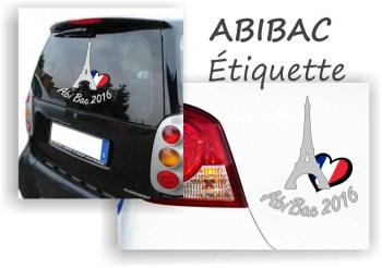 Abitur Aufkleber ABIBAC Etiquette