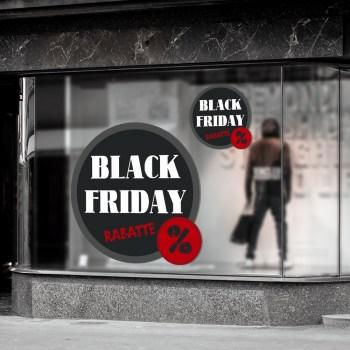 Black Friday Schaufenster-Werbung