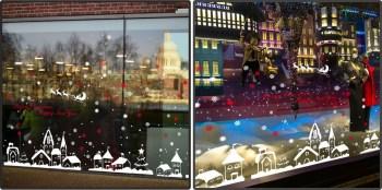 Großes Aufkleber Set Weihnachten 171 x 66 cm - Happy New Year Christmas Sticker