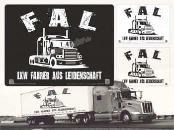 FAL Aufkleber - Wir sind Lkw Fahrer aus Leidenschaft