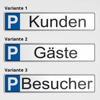 Parkplatz für Kunden Gäste Besucher