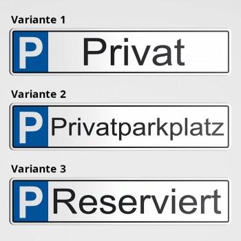 Privatparkplatz - Parkplatz Reserviert